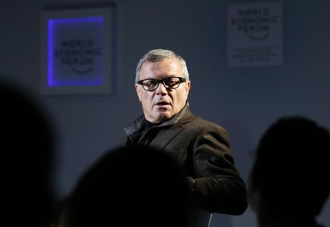 WPP CEO Martin Sorrell attends a TV show during the annual meeting of the World Economic Forum (WEF) in Davos January 23, 2013. REUTERS/Pascal Lauener