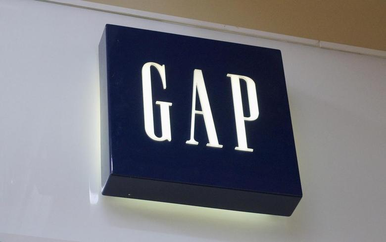 The sign outside a Gap store is seen in Broomfield, Colorado February 27, 2014. REUTERS/Rick Wilking