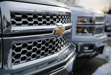 2014 Chevrolet Silverado pick up trucks are pictured in Thurmont, Maryland February 6, 2014. REUTERS/Gary Cameron