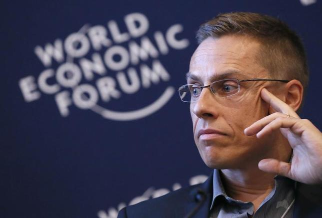 Finland's Minister of European Affairs and Foreign Trade Alexander Stubb attends the annual meeting of the World Economic Forum (WEF) in Davos January 26, 2013. REUTERS/Pascal Lauener