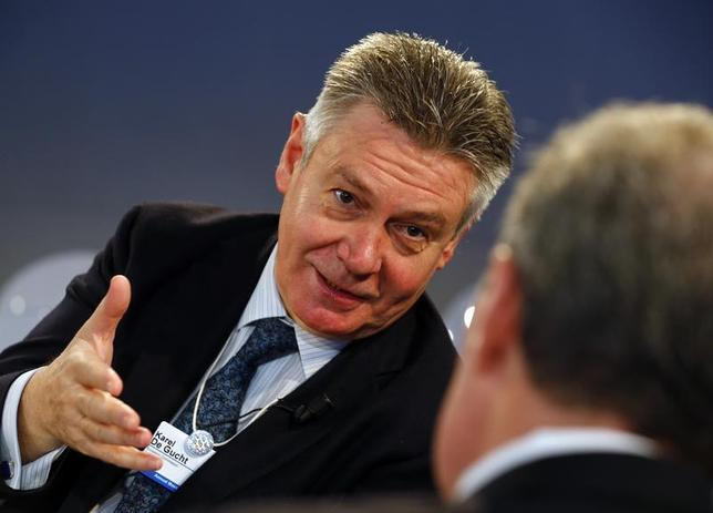 European Union Trade Commissioner Karel De Gucht attends a session at the World Economic Forum (WEF) in Davos January 25, 2014. REUTERS/Denis Balibouse
