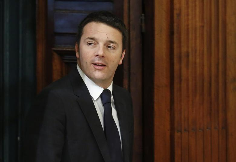 Italian Prime Minister Matteo Renzi arrives for a meeting with his Romanian counterpart Victor Ponta (not pictured) during a meeting at Chigi Palace in Rome February 28, 2014. REUTERS/Remo Casilli
