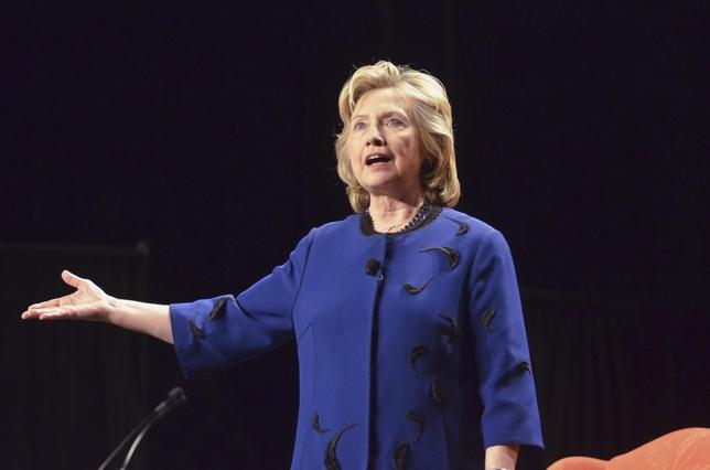 Former U.S. Secretary of State Hillary Clinton, who leads the pack of potential Democratic 2016 presidential contenders, speaks to a group of supporters and students at the University of Miami in Coral Gables, Florida February 26, 2014 file photo. REUTERS/Gaston De Cardenas