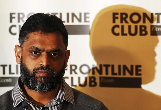 Former Guantanamo detainee Moazzam Begg attends a news conference at the Frontline Club in London January 10, 2012. REUTERS/Luke MacGregor