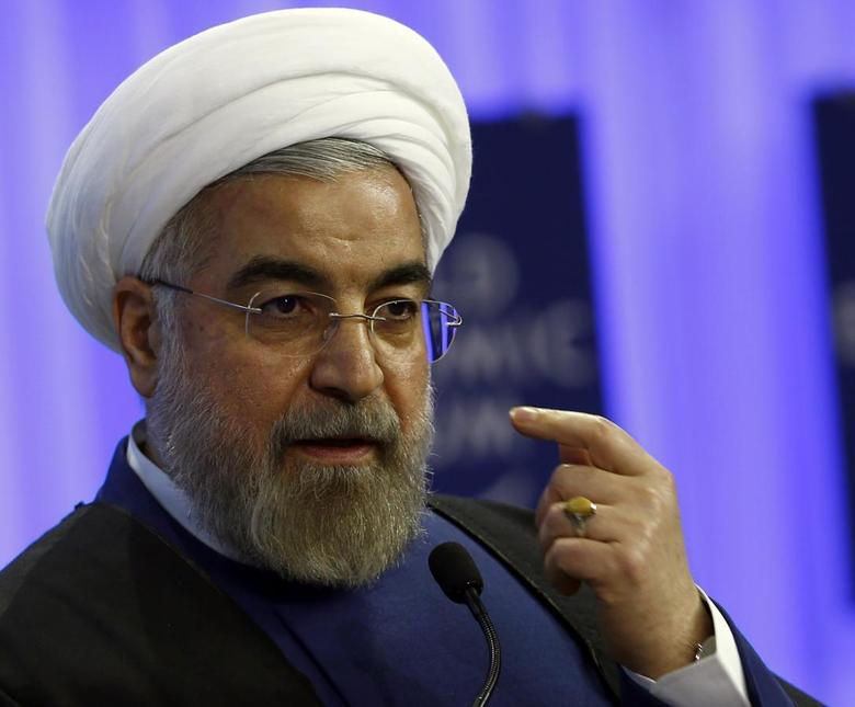 Iran's President Hassan Rouhani speaks during a session at the annual meeting of the World Economic Forum (WEF) in Davos January 23, 2014. REUTERS/Denis Balibouse