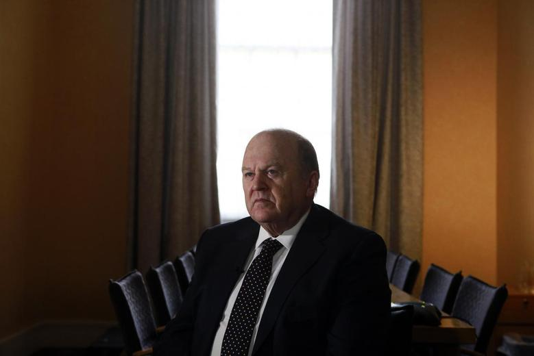 Ireland's Finance Minister Michael Noonan attends an interview with Reuters at his office in central Dublin February 11, 2014. REUTERS/Cathal McNaughton