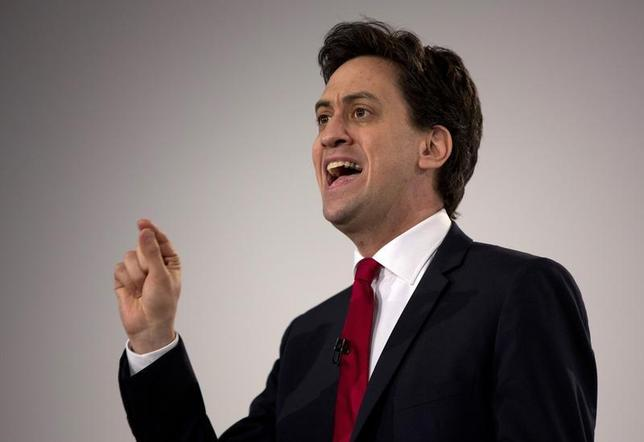 Britain's opposition Labour Party leader Ed Miliband delivers a speech at his party's special conference, in London March 1, 2014. REUTERS/Neil Hall