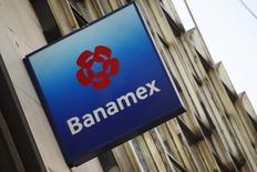 Logotipo da Banamex visto na Cidade do México. Um tribunal federal dos Estados Unidos está investigando o Citigroup, incluindo sua afiliada Banamex USA, sobre o cumprimento de regras de segredo bancário e contra lavagem de dinheiro, informou a instituição financeira nesta segunda-feira. 28/02/2014 REUTERS/Edgard Garrido