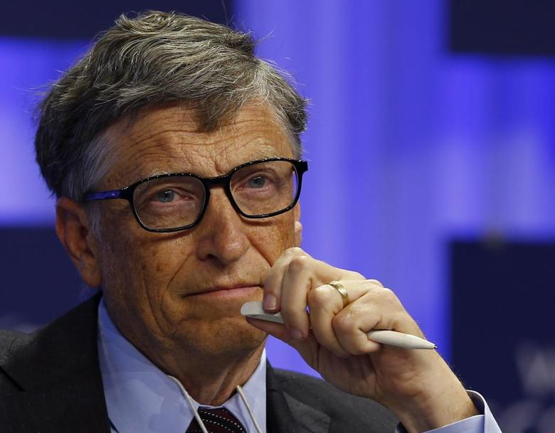 Microsoft founder Bill Gates attends a session at the annual meeting of the World Economic Forum (WEF) in Davos in this file photo from January 24, 2014. REUTERS/Denis Balibouse/Files