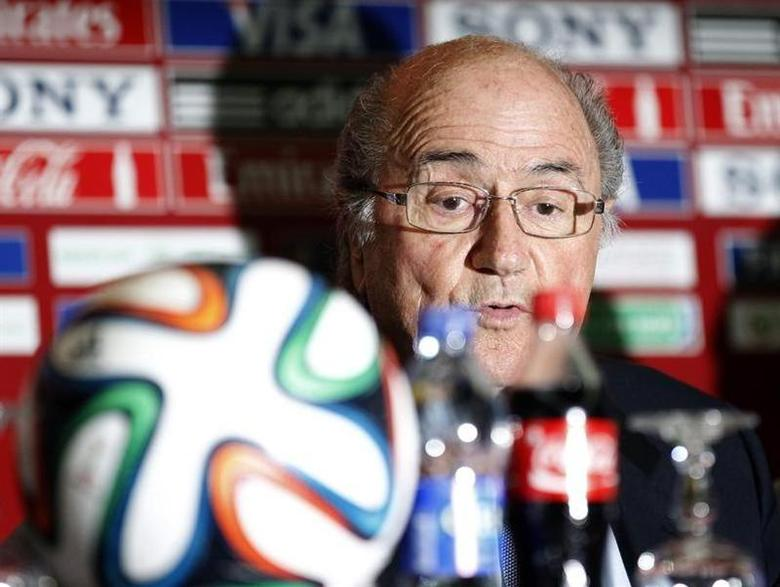 FIFA President Sepp Blatter speaks during a news conference at the Club World Cup soccer tournament in Marrakech December 19, 2013. REUTERS/Amr Abdallah Dalsh