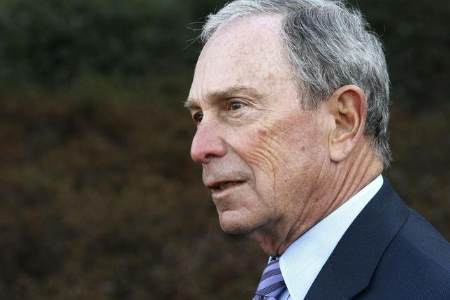 Former New York City Mayor Michael Bloomberg talks to reporters after meeting with U.S. President Barack Obama and business and civic leaders for an event to discuss Obama's ''My Brother's Keeper'' initiative at the White House in Washington, February 27, 2014. REUTERS/Jonathan Ernst