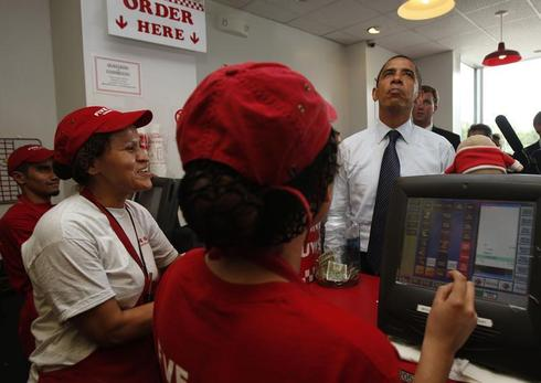 Obama ordering food