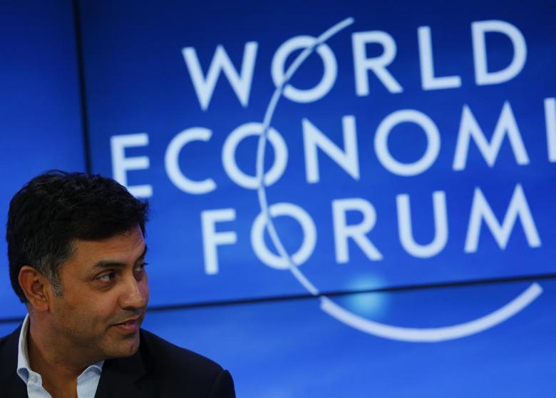 Nikesh Arora , Senior Vice-President and Chief Business Officer of Google attends a session at the annual meeting of the World Economic Forum (WEF) in Davos January 22, 2014. REUTERS/Denis Balibouse