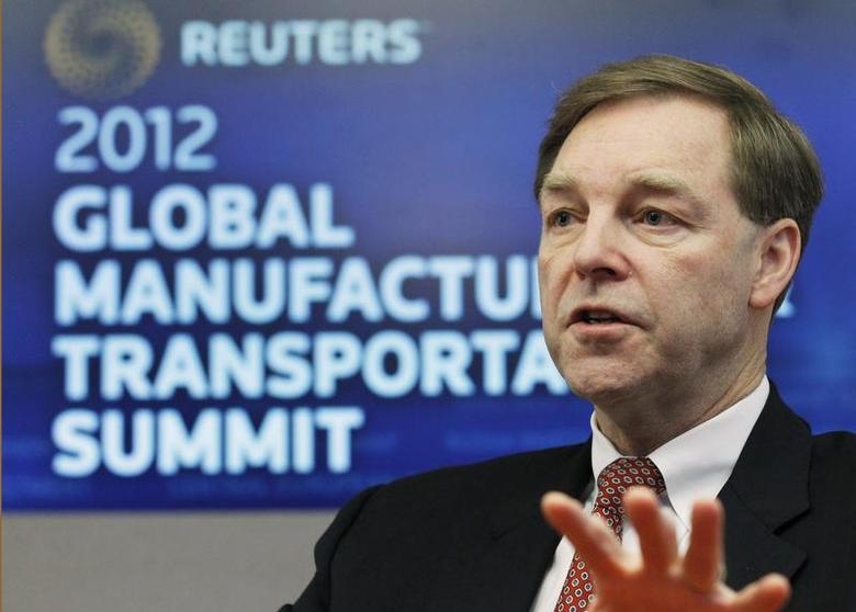 Stuart Levenick, group president of Caterpillar, speaks at the Reuters Manufacturing and Transportation Summit in New York, December 12, 2011 file photo. REUTERS/Brendan McDermid