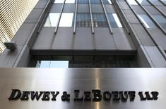 A sign marking the Dewey & LeBoeuf LLP headquarters on 6th avenue in New York is seen in this file photo taken May 29, 2012. REUTERS/Shannon Stapleton/Files