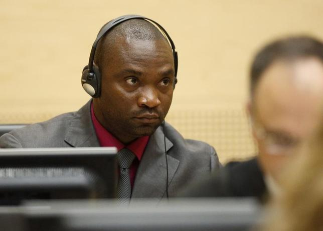 Germain Katanga, a Congolese national, sits in the courtroom of the ICC during the closing statements in the trial against Katanga and Ngudjolo Chui in The Hague May 15, 2012. REUTERS/Michael Kooren