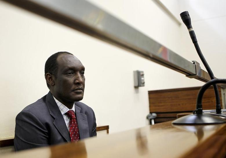 Exiled Rwandan General Faustin Kayumba Nyamwasa looks on during his court appearance in Johannesburg June 21 2012. REUTERS/Siphiwe Sibeko