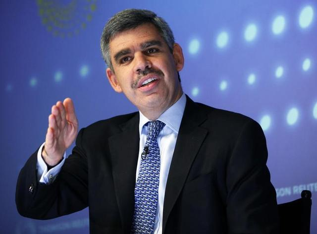 Mohamed El-Erian speaks during an interview at Thomson Reuters in New York March 31, 2011 file photo. REUTERS/Shannon Stapleton