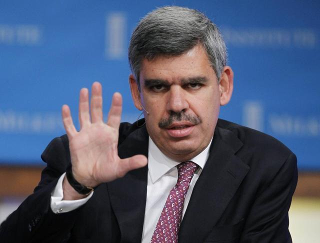 Mohamed El-Erian, CEO and Co-Chief Investment Officer of PIMCO, speaks at the Milken Institute Global Conference in Beverly Hills, California in this file photo taken May 2, 2011. REUTERS/Fred Prouser/Files