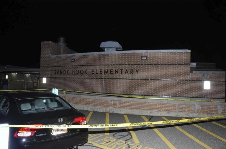 The car driven by Adam Lanza is pictured at Sandy Hook Elementary School in Newtown, Connecticut, in this evidence photo released by the Connecticut State Police, December 27, 2013. REUTERS/Connecticut State Police/Handout via Reuters