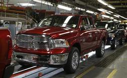 Uma Dodge Ram ano-modelo 2014 vista na linha de montagem da Chrysler em Warren, Michigan. A Chrysler disse que está fazendo o recall de 25.250 veículos utilitários esportivos Dodge e Jeep no mundo todo por um problema nos freios. 11/12/2013 REUTERS/Rebecca Cook