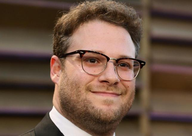 Actor Seth Rogen arrives at the 2014 Vanity Fair Oscars Party in West Hollywood, California in this file photo taken March 2, 2014. REUTERS/Danny Moloshok/Files