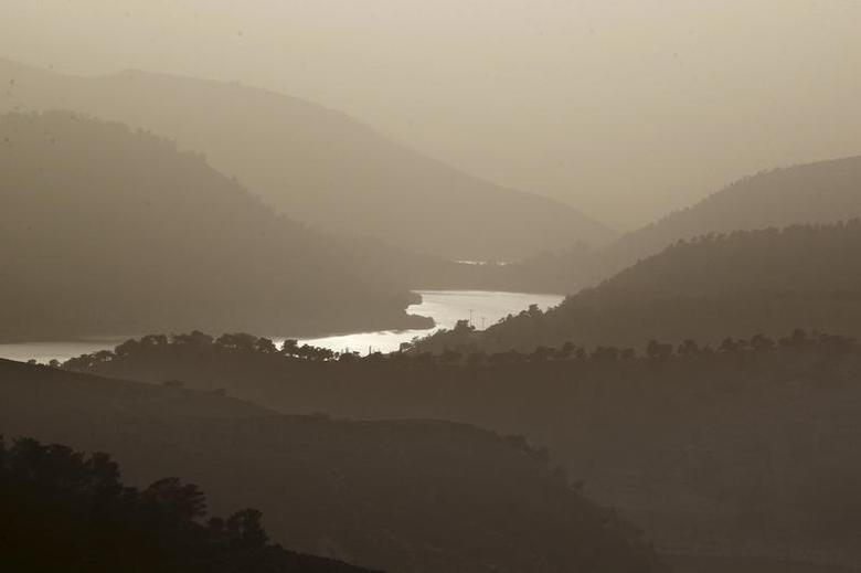 A general view of King Talal Dam near Jerash March 6, 2014. REUTERS/Muhammad Hamed