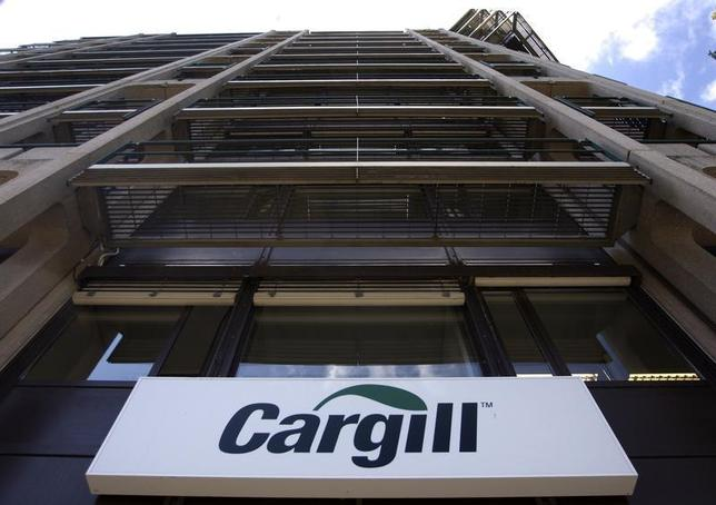 A logo is pictured on the building of Cargill International SA in Geneva August 4, 2009.REUTERS/Denis Balibouse