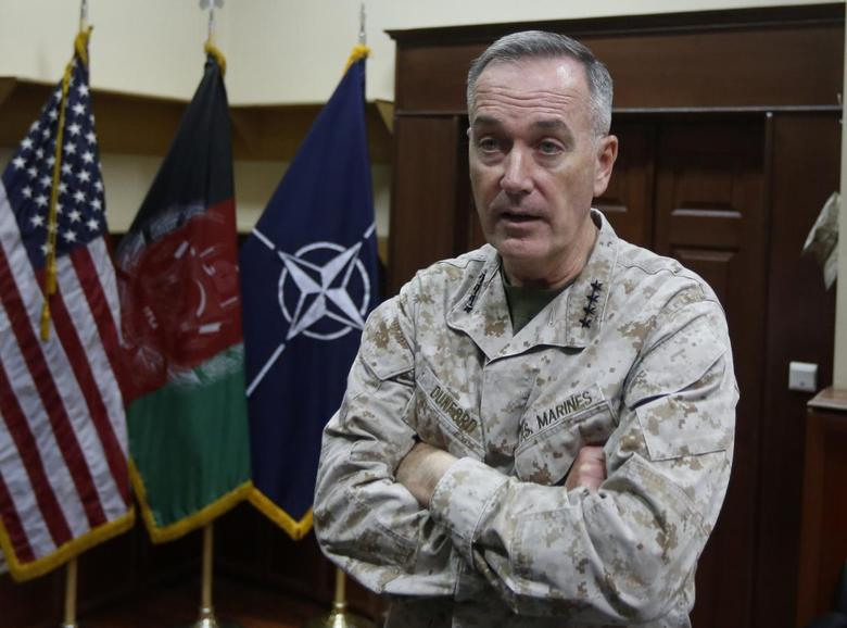International Security Assistance Force (ISAF) commander General Joseph Dunford speaks during an interview in Kabul August 13, 2013. REUTERS/Mohammad Ismail