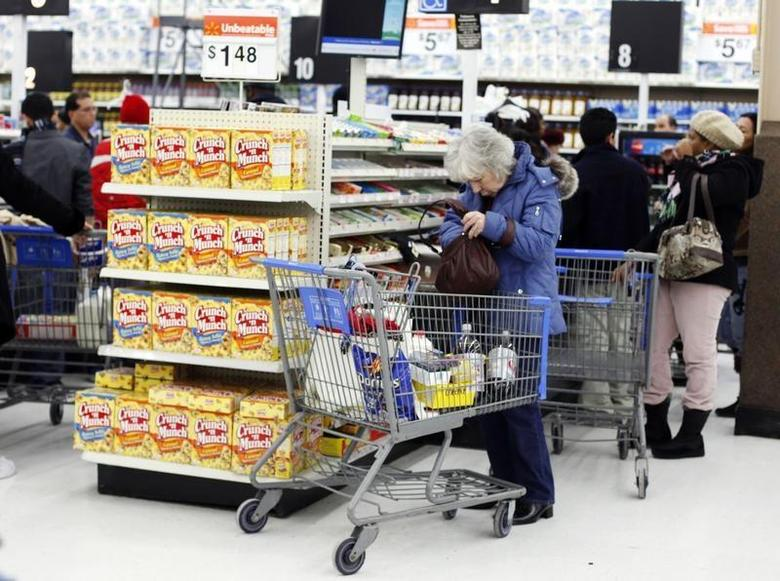 A woman shops at the Walmart in Westbury, New York, February 17, 2010. REUTERS/Shannon Stapleton