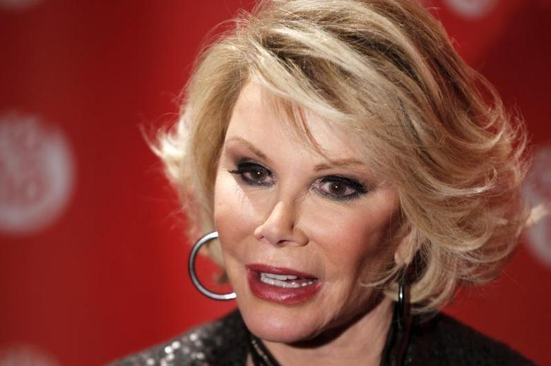 Comedian Joan Rivers arrives for the premiere of the documentary ''Joan Rivers - A Piece Of Work'' during the 2010 Sundance Film Festival in Park City, Utah January 25, 2010. REUTERS/Lucas Jackson