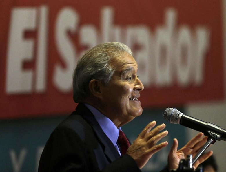 Salvador Sanchez Ceren, presidential candidate of the Farabundo Marti National Liberation Front (FMLN), speaks to the media during a news conference at a hotel in San Salvador March 10, 2014. REUTERS/Henry Romero