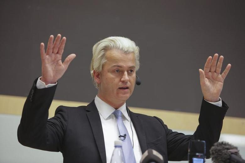 Dutch politician Geert Wilders talks at a meeting organized by Swedish Union for Liberty of Speech in Malmo October 27, 2012. REUTERS/Scanpix