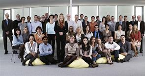 A group photo of staff at Swiss based AC Immune courtesy of the company. REUTERS/AC Immune