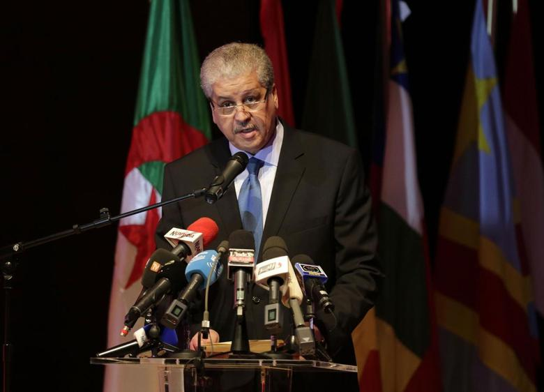 Algeria's Prime Minister Abdelmalek Sellal speaks during the opening ceremony of the African Conference on Green Economy in Oran February 22, 2014. REUTERS/Louafi Larbi