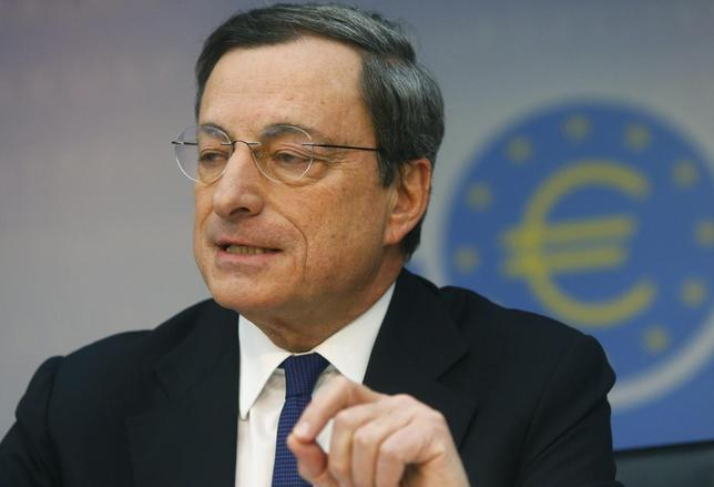 European Central Bank (ECB) President Mario Draghi speaks at the monthly ECB news conference in Frankfurt March 6, 2014. REUTERS/Ralph Orlowski