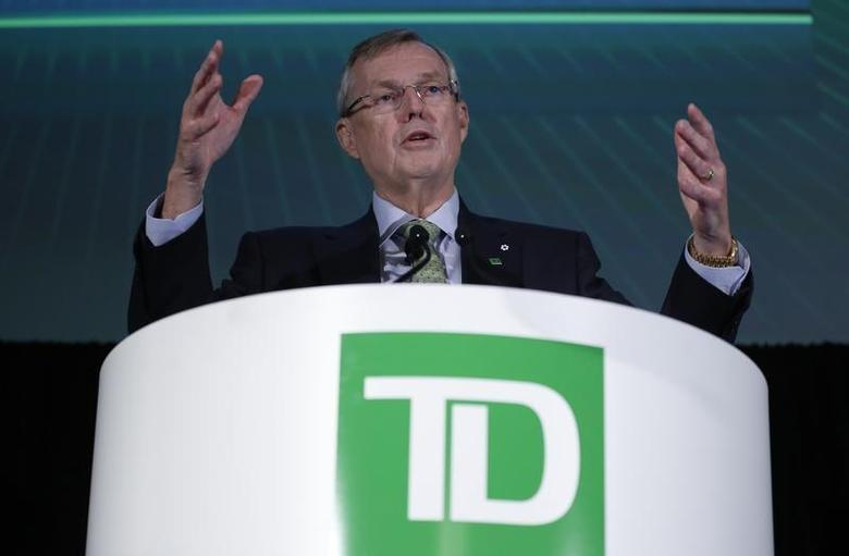 Toronto-Dominion Bank President and Chief Executive Officer Ed Clark speaks during the company's annual general meeting in Ottawa April 4, 2013. REUTERS/Chris Wattie