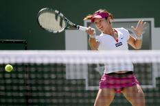 Mar 10, 2014; Indian Wells, CA, USA; Li Na (CHN) during her match against Karolina Pliskova (CZE) during the BNP Paribas Open at the Indian Wells Tennis Garden. Li won 6-3, 6-4. Mandatory Credit: Jayne Kamin-Oncea-USA TODAY Sports