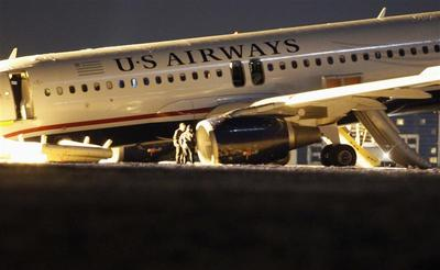 Tire blows out on passenger jet taking off from...