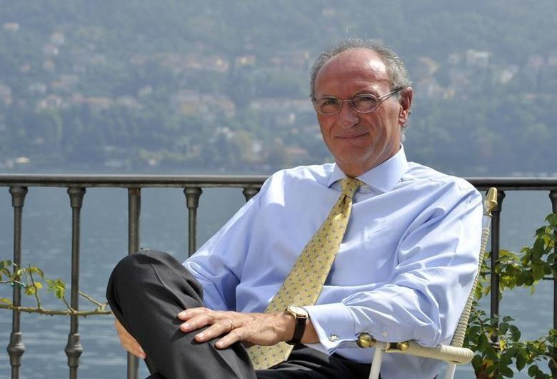 Unicredit bank Chief Executive Federico Ghizzoni is pictured during an interview at the Ambrosetti workshop in Cernobbio, next to Como, September 7, 2012 file photo. REUTERS/Paolo Bona
