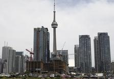Condo buildings are seen under in construction in Toronto June 19, 2009. REUTERS/Chris Roussakis