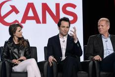 "Cast members Keri Russell (L), Matthew Rhys and Noah Emmerich (R) of drama series ""The Americans"" participate in a panel during FX Networks' part of the Television Critics Association (TCA) Winter 2014 presentations in Pasadena, California, January 14, 2014. REUTERS/Kevork Djansezian"