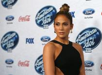 "Singer and judge Jennifer Lopez poses at the party for the finalists of ""American Idol XIII"" in West Hollywood, California February 20, 2014 file photo. REUTERS/Mario Anzuoni"