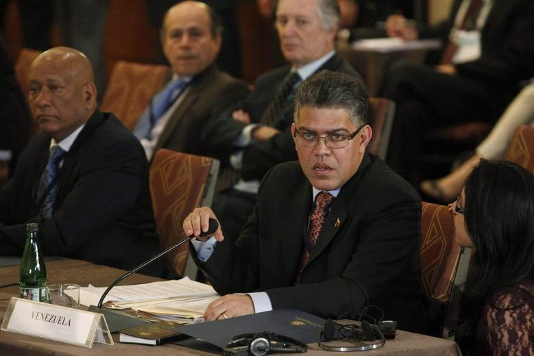 Venezuela's Foreign Minister Elias Jaua attends an extraordinary session of the Union of South American Nations (UNASUR) in Santiago, March 12, 2014. REUTERS/Maglio Perez