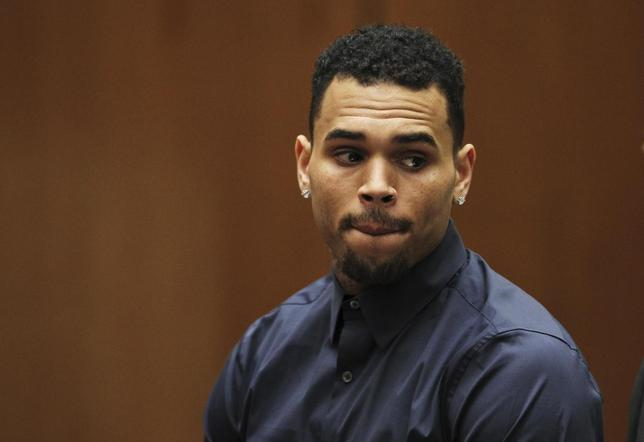 Singer Chris Brown appears for a probation progress hearing at the Clara Shortridge Foltz Criminal Justice Center in Los Angeles, California February 3, 2014. REUTERS/David McNew/Pool