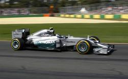 Mercedes Formula One driver Nico Rosberg of Germany drives during the third practice session of the Australian F1 Grand Prix at the Albert Park circuit in Melbourne March 15, 2014. REUTERS/Jason Reed