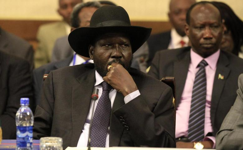 South Sudan's President Salva Kiir attends a session during the 25th Extraordinary Summit of the Inter-Governmental Authority on Development (IGAD) on South Sudan in Ethiopia's capital Addis Ababa March 13, 2014. REUTERS/Tiksa Negeri