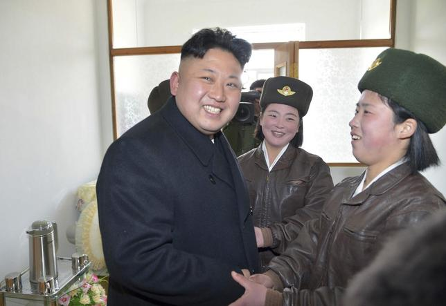 North Korean leader Kim Jong Un supervises a flight drill of the KPA Air and Anti-Air Force Unit 2620, honored with the Title of O Jung Hup-led 7th Regiment, in this undated photo released by North Korea's Korean Central News Agency (KCNA) March 7, 2014. REUTERS/KCNA