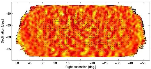 Tiny temperature fluctuations of the cosmic microwave background (shown as color) trace primordial density fluctuations in the early universe. Astronomers announced on Monday that they had discovered what many consider the holy grail of their field: ripples in the fabric of space-time that are echoes of the massive expansion of the universe that took place just after the Big Bang. REUTERS/Harvard-Smithsonian Center for Astrophysics