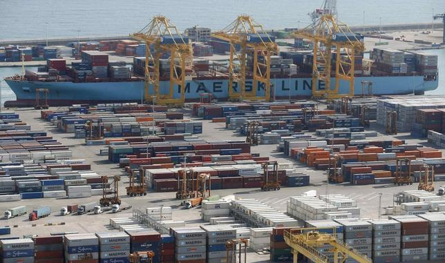 A general view of a cargo terminal at the Port of Barcelona, October 23, 2013. REUTERS/Albert Gea